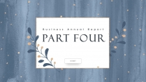 【蓝色水彩】金粉晕染艺术文化创意宣传展示提案模板示例7