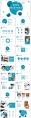 【抽象艺术】 现代商务总结工作汇报模板(含四套)示例3