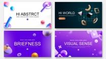 【四套合集】抽象3D科技互联网公司介绍工作PPT示例2