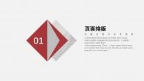 【灰色极简】红灰简洁大气商务模版示例4