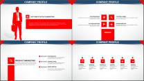 经典红色杂志风图文混排PPT模板示例6