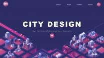 """""""未来城市""""科技互联网公司企业品牌发布工作PPT"""