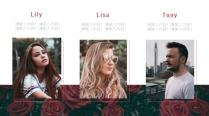 时尚商务职场简约红色玫瑰系列创意PPT模板示例7