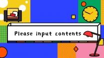 【复古卡通风】炫彩卡通可爱超Q的PPT模板示例7
