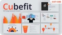 【灰色】橙色经典搭配欧美简约商务数据图表模板