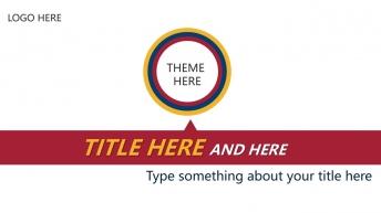红黄蓝大气简洁活动方案报告创意实用商务模板
