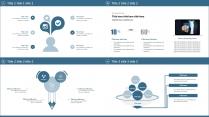 蓝色高端简约商务汇报模板示例3