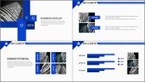 【你好2019】蓝色图文混排公司企业商务工作PPT示例6