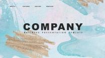【创意水彩】现代简约商务汇报工作计划总结模板