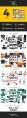 【4合1】欧美简约扁平化杂志风商业通用模板合集示例3