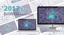 【动态】创意蓝紫色商务工作总结工作计划信息图表PP
