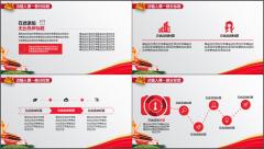 【给力PPT】政府党政党支部工作汇报模板示例4