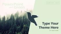【森林飞鸟】绿色简约欧美风商务项目PPT模板