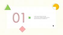 【小清新】商务汇报时尚模板示例4