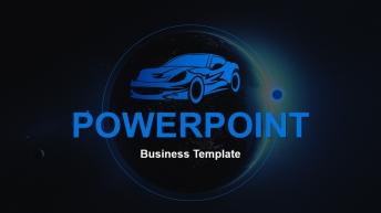 【汽车行业】高端科技商务蓝超级实用总结汇报模板