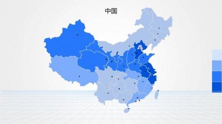 【中国地图35套-pptstore高端商务图表系列ppt模板】
