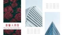 时尚商务职场简约红色玫瑰系列创意PPT模板示例5