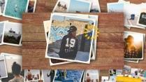 【動畫】簡潔清新的相冊照片展示動畫PPT模板2
