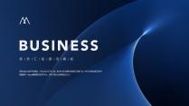 【經典商務】深沉藍色商務科技實用主義PPT模板4