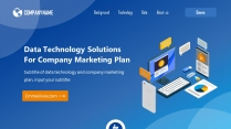 蓝色科技风简洁商务报告模板示例2
