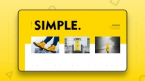 【极简主义8】上帝不小心打翻黄色的颜料盘&欧美杂志示例2