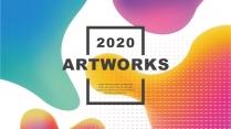 【抽象艺术】现代创意商务汇报工作总结计划模板