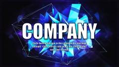 新发高端品质简约风格蓝色夜空ppt商务模板