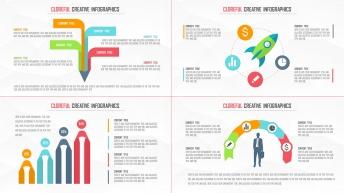 創意多彩現代商務可視化信息圖表25套【第三期】