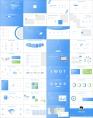 【简约蓝色】极简风科技互联通用总结汇报模板示例6