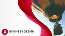 曲面创意图文混排商业实用PPT模板