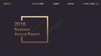 【欧美网页】高端黑金网页版式年终总结汇报5示例2