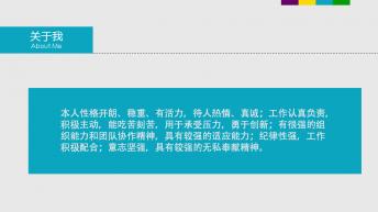 【通向成功】简约大气个人简历PPT示例5