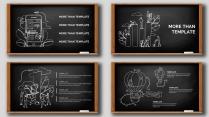手绘风格简洁清爽PPT模板30(黑板)示例3