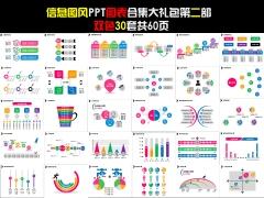 信息圖風PPT圖表合集大禮包第二部(雙色30套)
