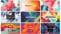 【抽象水彩】现代商务高品质多用途模板【含八套】