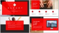 全页设计图文混排现代商务总结报告模板11