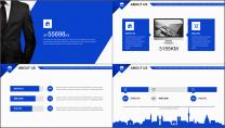 【你好2019】蓝色图文混排公司企业商务工作PPT示例3