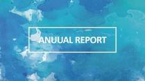 创意水墨蓝总结报告工作计划商务策划模板