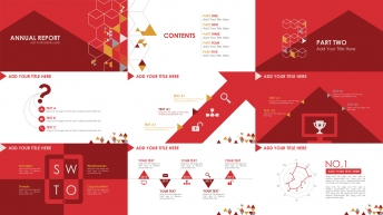 多边形扁平商务计划总结PPT模板3