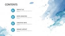 创意水墨蓝总结报告工作计划商务策划模板示例3