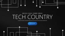 电路创意科技互联网云计算软件工作PPT(三)