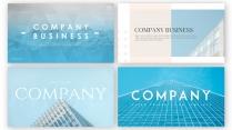 【清冷】簡約商務工作匯報PPT模板(4套合集)