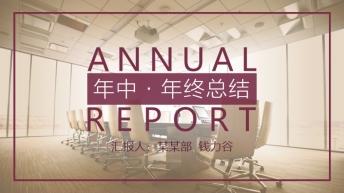 【动态】【年中·年终总结】怀旧复古商务PPT模板1