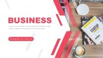 红色商务企业文化年终总结报告模板4