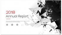 创意几何黑色总结报告工作计划商务策划模板08