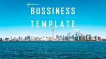 【天际之蓝】大气简约欧美风创意商业计划书