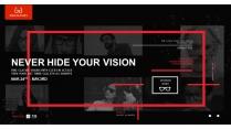 黑色系列眼镜商务通用PPT模板