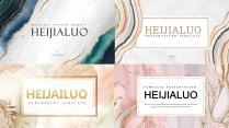 【4套合集】金粉水彩高级时尚大气视觉通用大气模板