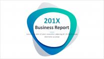 简约清新通用商务报告模板 第17-绿色