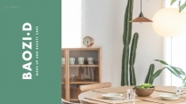 (40)綠色極簡清新大氣商務PPT模板